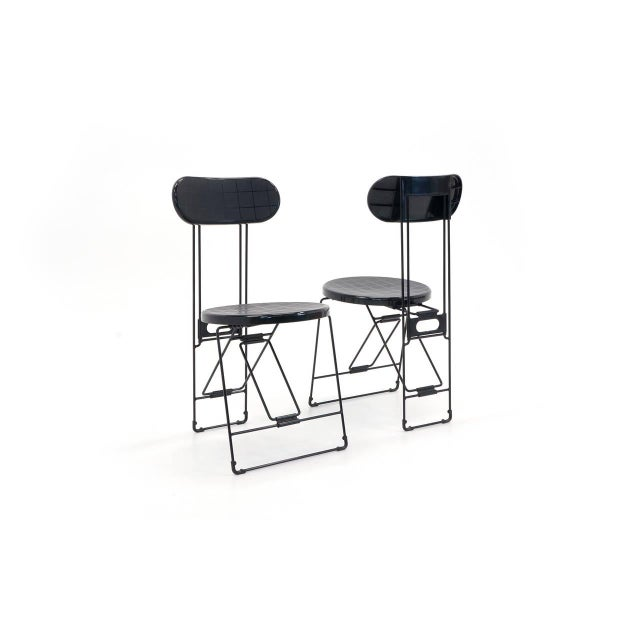 Modern Set of 6 Cricket Folding Chairs by Andries Van Onck & Kazuma Yamaguchi for Magis For Sale - Image 3 of 10