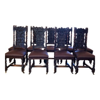Mike Bell Antique Chairs - Set of 9 For Sale