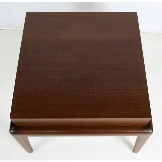 Seth Ben-Ari Pair of Mahogany Side Tables by Seth Ben-Ari For Sale - Image 4 of 6