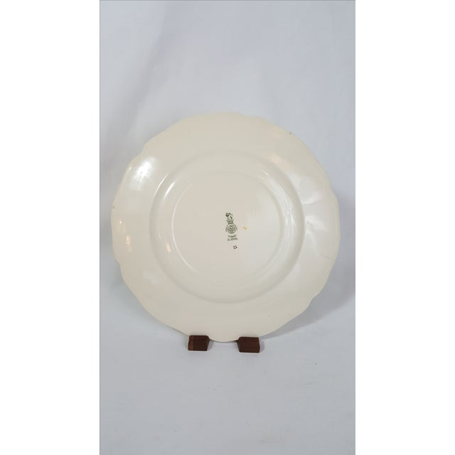English Floral Royal Doulton Salad Plate For Sale - Image 3 of 4