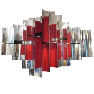 1960s Abstract Kinoptic Metal Wall Sculpture by Rafe Affleck For Sale