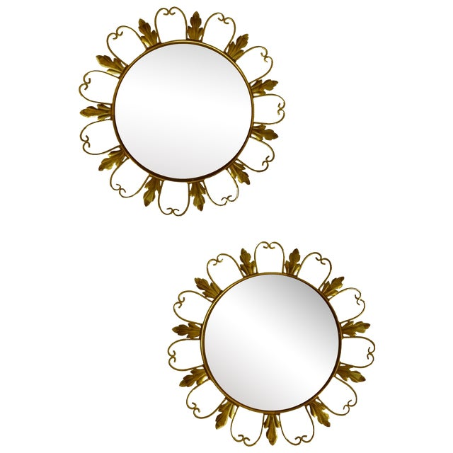Convex Mirrors from Belgium - A Pair For Sale