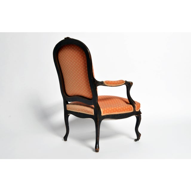 Late 19th Century Louis XV Style Fauteuil With Cabriole Legs For Sale - Image 5 of 11