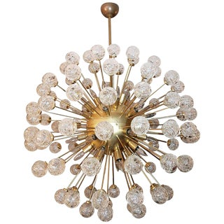 Rose Murano Glass Sputnik Chandelier For Sale
