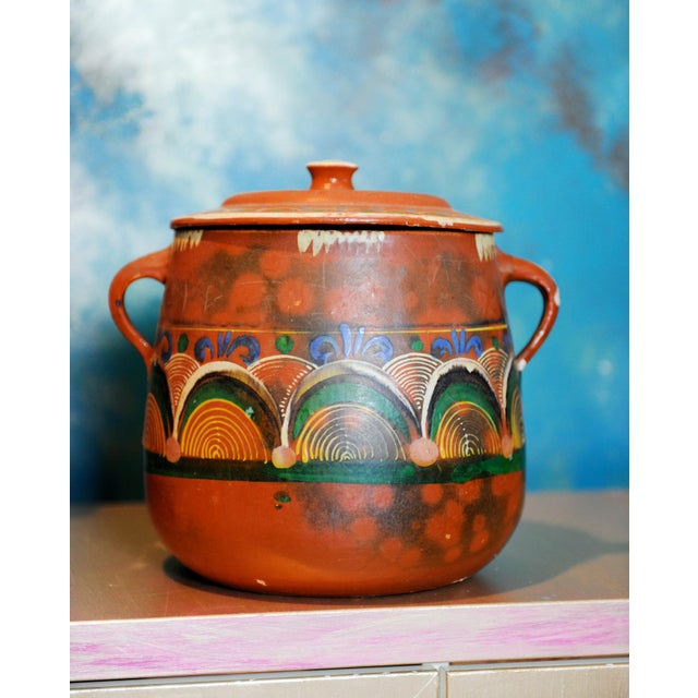 Vintage Tlaquepaque Mexican Clay Pot - Image 2 of 5
