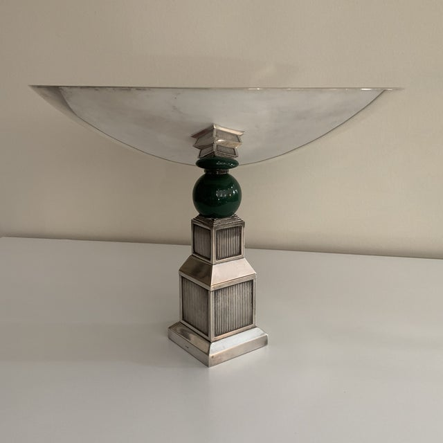 1970s Vintage Gucci Silver Plate Centerpiece Bowl For Sale - Image 5 of 13