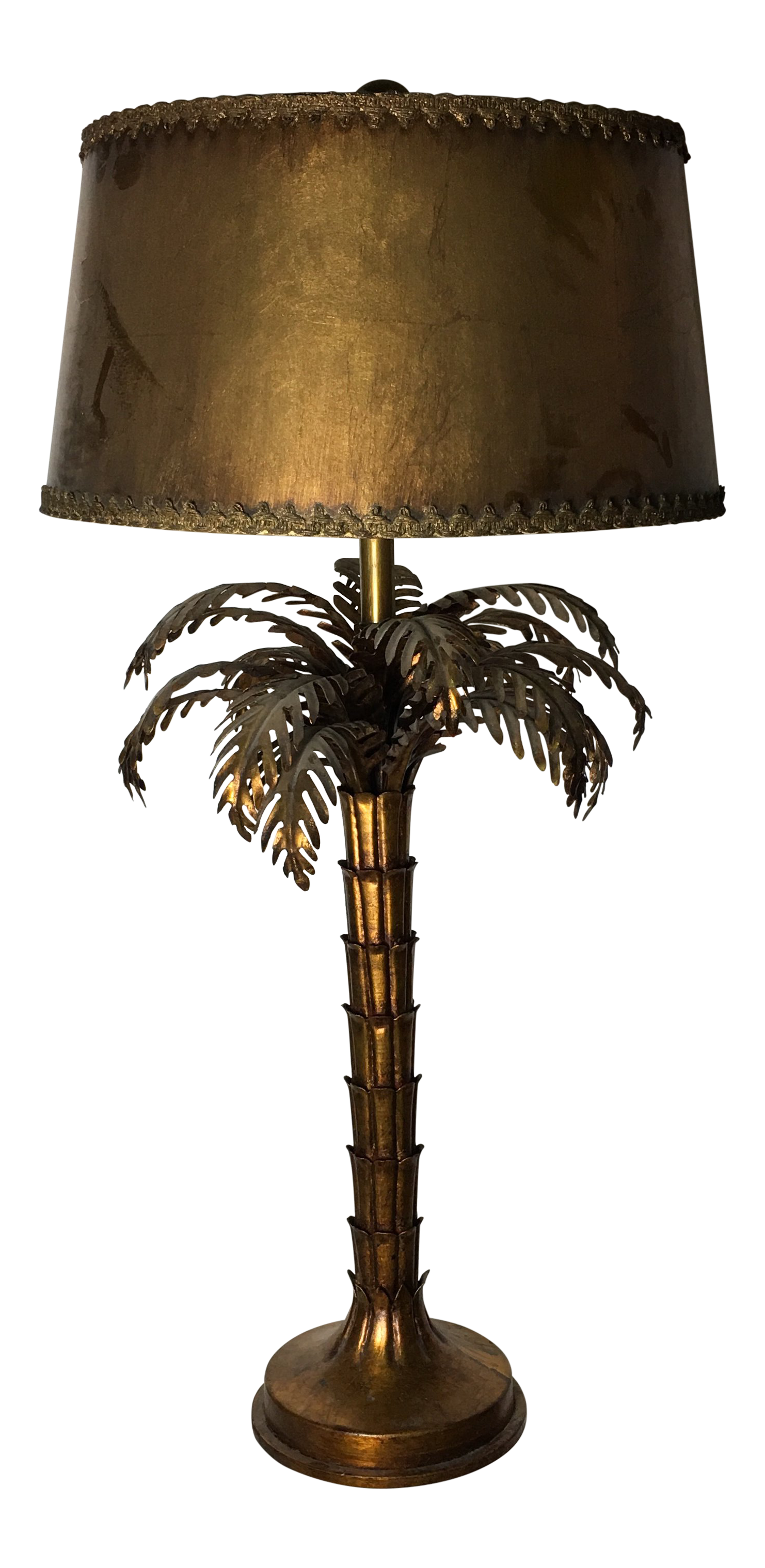 Bon Large Italian Gold Guilded Palm Tree Table Lamp   Image 1 Of 10