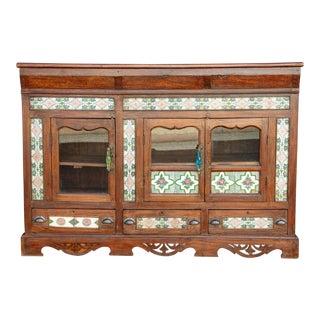 Scalloped Antique Tile Enfilade Buffet For Sale
