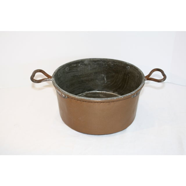 Vintage Rustic Copper Pot For Sale In Los Angeles - Image 6 of 6