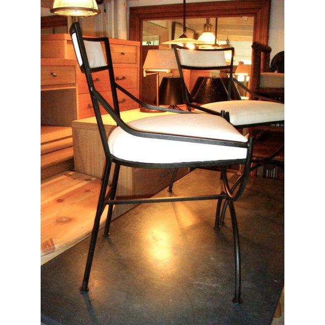 Pair of Mid Century Iron Chairs - Image 3 of 8