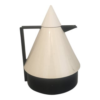 "1980s White Emsa ""Rio"" Conical Thermal Pot For Sale"
