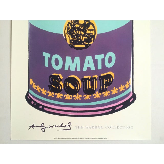 """Andy Warhol Andy Warhol Foundation Lithograph Print Pop Art Poster """" Campbell's Soup Can """" 1965 For Sale - Image 4 of 11"""
