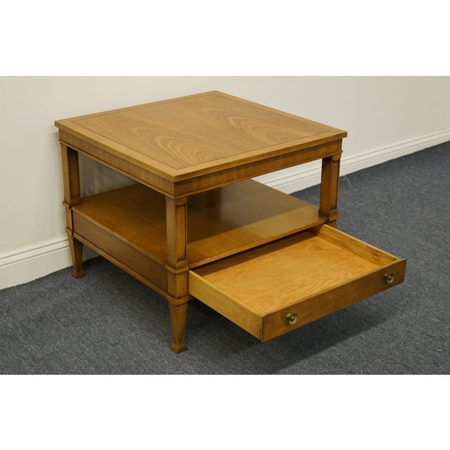 "Drexel Heritage Triune Collection Mahogany 26"" Square End Table For Sale In Kansas City - Image 6 of 13"