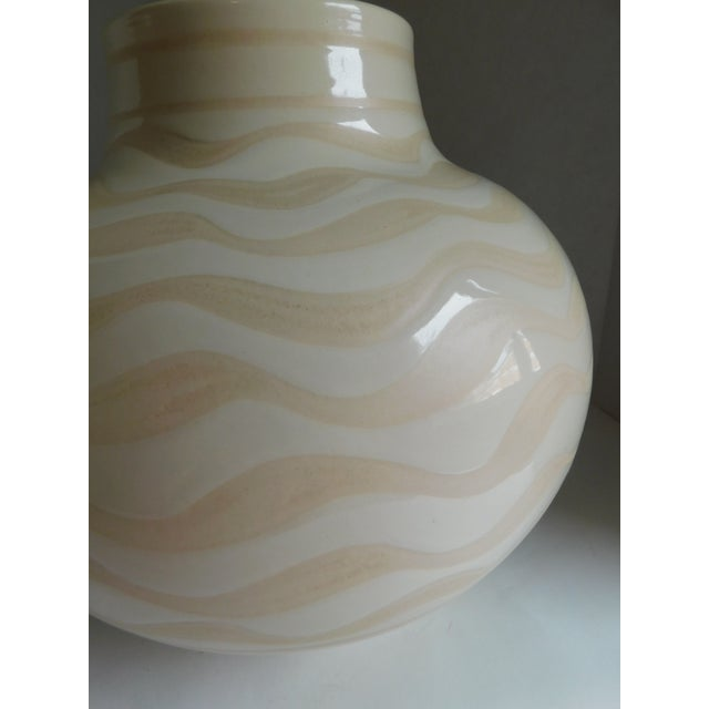 Mid 20th Century Mid Century Ceramic Striped Table Lamp For Sale - Image 5 of 12