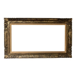 1960 Frame Carved Wooden Rococo Gold Baroque French Antique For Sale