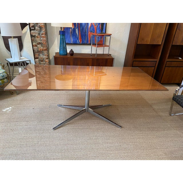 Knoll International Mid Century Knoll Conference Table/Desk For Sale - Image 4 of 6