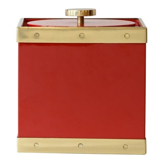 Red Lacquer Ice Bucket For Sale