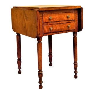 Federal Tiger Maple Table, Pennsylvania Circa 1820 For Sale