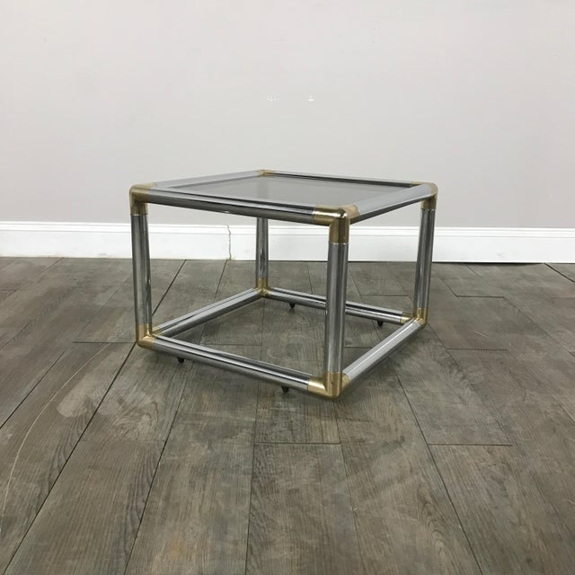 Mid-Century Modern Chrome Boxed End Tables Set - Image 6 of 11
