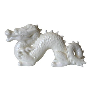 Vintage Asian Ceramic Crackle Glazed Dragon