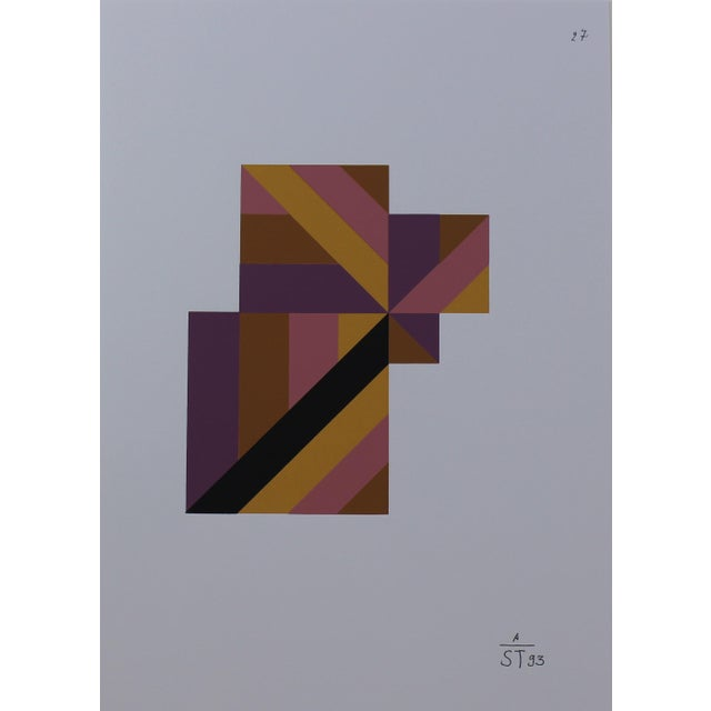 Abstract 1997 Abstract Serigraph by Anton Stankowski, Limited Edition For Sale - Image 3 of 4