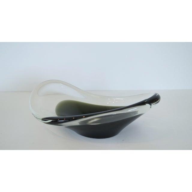 Vintage Swedish Modern Blown Glass Bowl - Image 2 of 7