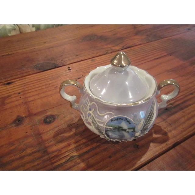 Vintage Honeymoon Niagra Falls Cream & Sugar Set - A Pair - Image 8 of 11