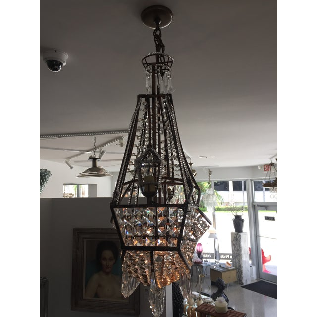 Spanish Galleon Ship Crystal Chandelier, Italy 1990s For Sale - Image 12 of 13