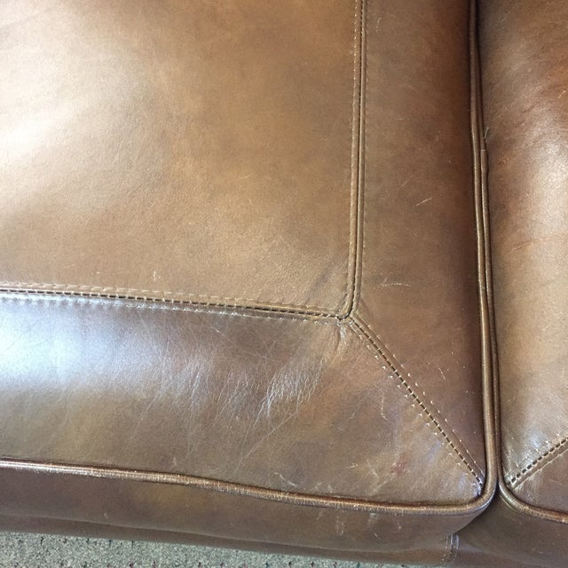 Whittemore Sherrill Leather Sofa - Image 7 of 11