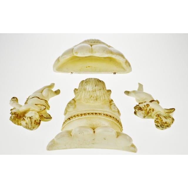 Vintage Ceramic Cherub Lavabo Wall Fountain Wall Pocket - Image 3 of 10