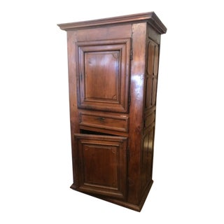 Antique Fruitwood Kitchen Cupboard For Sale
