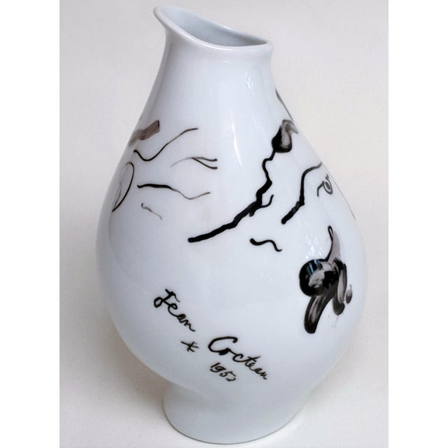 1970s Jean Cocteau for Classic Rose Rosenthal Group Vase For Sale - Image 5 of 11