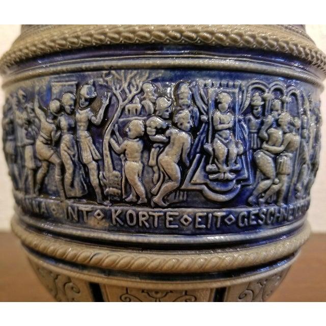 """1584 Flemish Salt Glazed Pottery Beer Ewer """"Story of Susanna"""" After Engel Kran For Sale - Image 12 of 13"""