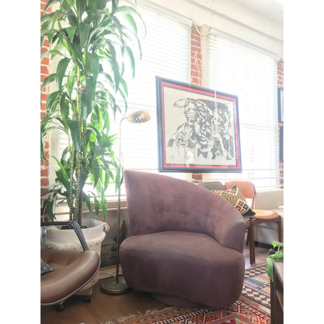 1990s 1990s Vintage Vladimir Kagan for Weiman Preview Bilbao Swivel Lounge Chair For Sale - Image 5 of 8