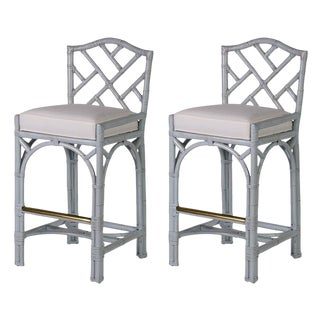 David Francis Classic Chippendale Barstools - Set of 2