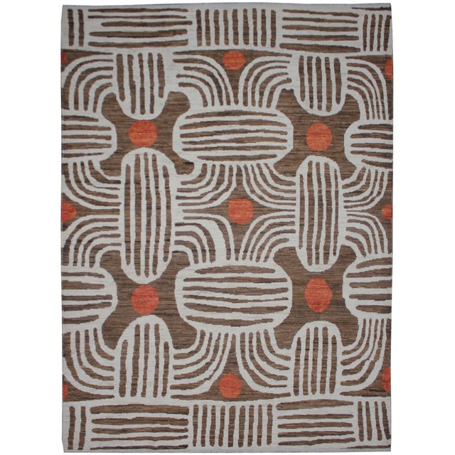"""Hand Knotted Ikat Rug - 9'11"""" X 8' - Image 2 of 5"""