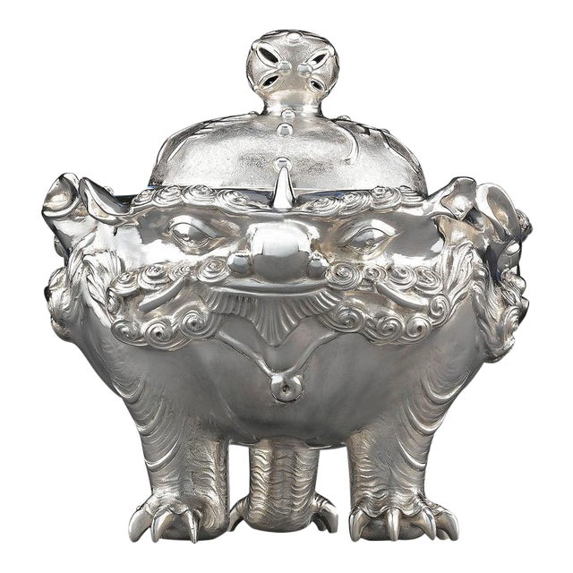 Meiji Period Japanese Silver Censer For Sale