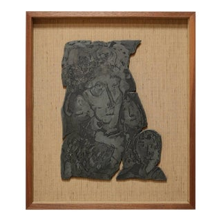 Framed Lead Lithograph Mold For Sale