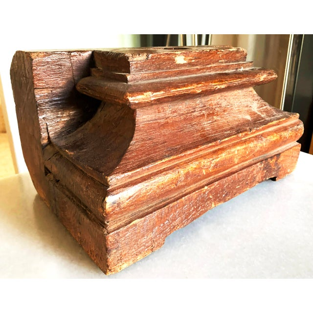 1860s Anglo Indian Carved Teak Architectural Column Base For Sale - Image 13 of 13