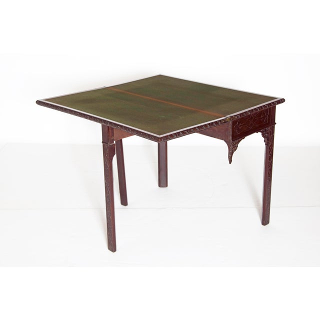 Mid 18th Century Mid-18th Century Early George III Mahogany Card Table For Sale - Image 5 of 13