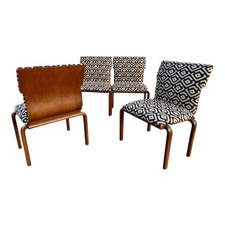 Mid Century Convertible Bench Chairs - Set of 4 For Sale