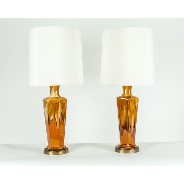 Vintage Porcelain Desk / Table Lamps - a Pair For Sale - Image 10 of 10