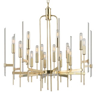 Bari 16 Light Chandelier - Aged Brass Preview