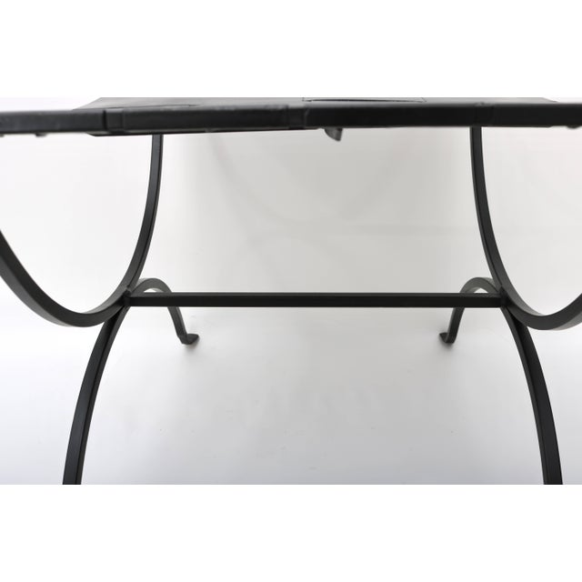 Mid-Century Modern Iron Benches - a Pair For Sale In West Palm - Image 6 of 8