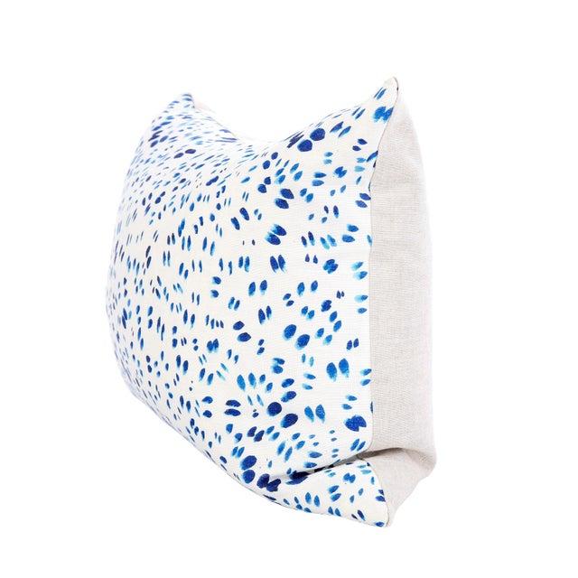 "Scattered Indigo Petals Linen Pillow - 10"" X 22"" - Image 3 of 7"