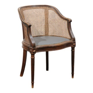 19th Century French Cane Desk Chair For Sale