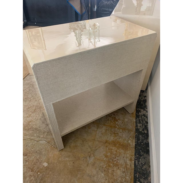 Polished Faux Vellum Nightstands From Made Goods - a Pair For Sale - Image 12 of 13