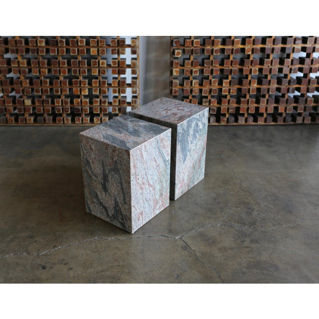 1980s Granite Stone Occasional Tables - a Pair For Sale - Image 9 of 11