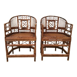 Brighton Pavilion Tortoise Chairs - a Pair For Sale