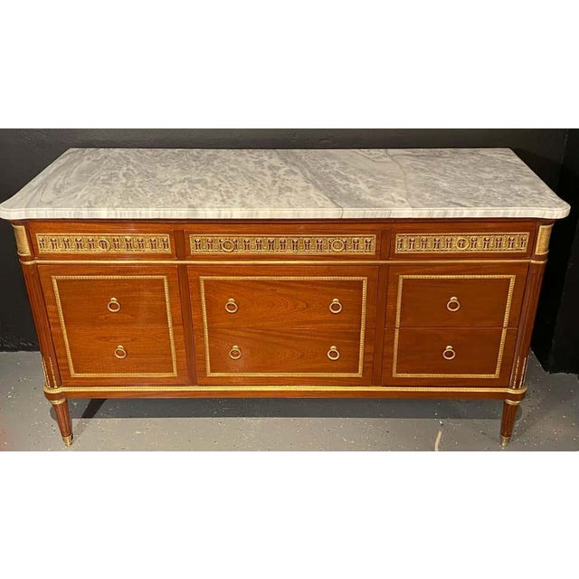 Pair of Monumental French Commodes in the Manner of Maison Jansen For Sale - Image 4 of 13